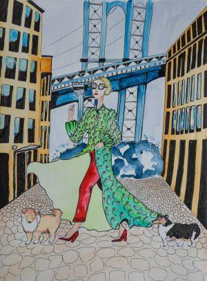 Cléo, Lady Et Blair à NYC