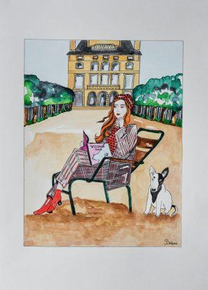 Willie, Le Bull Terrier Et Georgia Patton